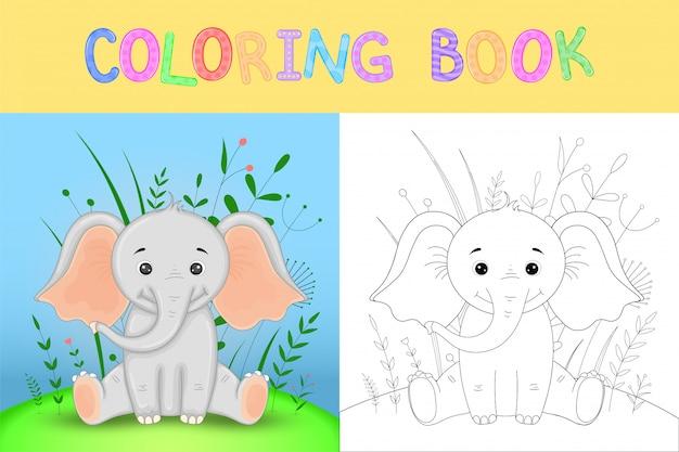Livro para colorir ou página para crianças em idade escolar e pré-escolar