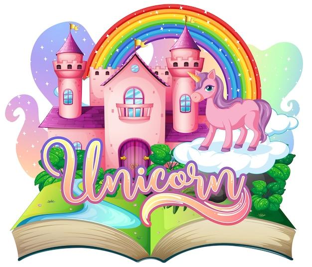 Livro pop-up 3d com tema de conto de fadas