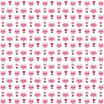 Livro romântico padrão ilustração design romântico bonito padrão design