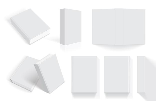Livros brancos com capa grossa de diferentes lados