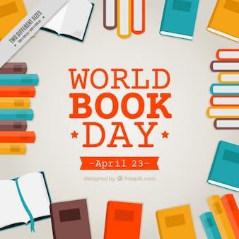 Livros coloridos fundo