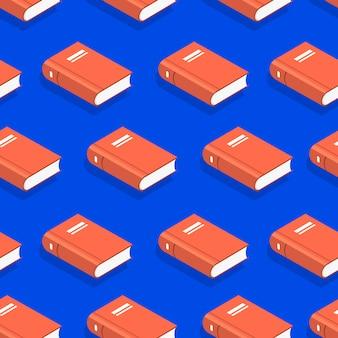 Livros de conceito de padrão de fundo sem emenda. ilustrar.