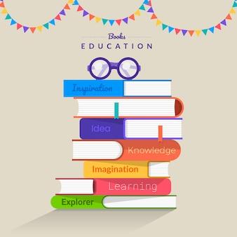 Livros de conceito. educação e aprendizagem com livros. ilustrar.