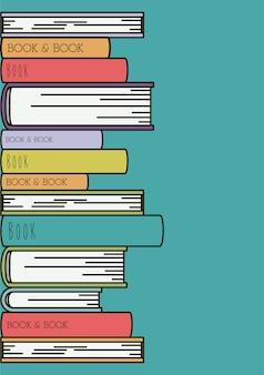 Livros definir biblioteca isolado ícone vector ilustração design