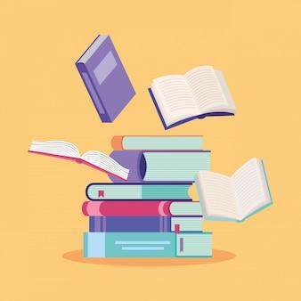 Livros e desenhos de educação