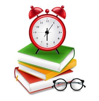 Livros e despertador
