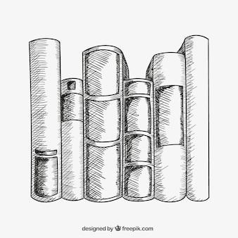 Livros esboçado