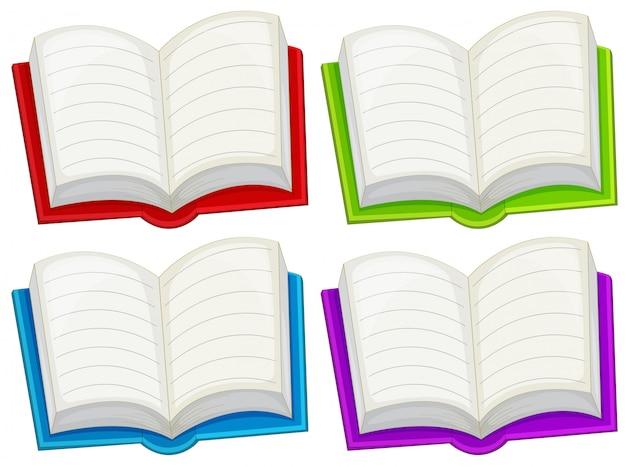 Livros vazios coloridos