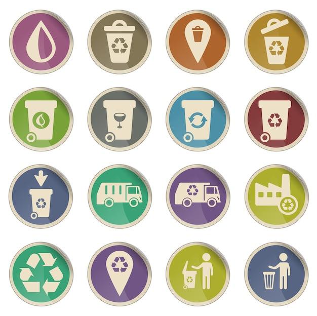 Lixo simplesmente símbolos para ícones da web