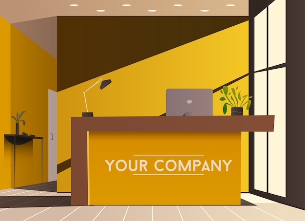Lobby de empresa ou hotel