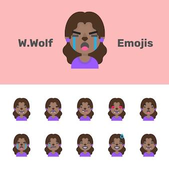 Lobisomem feminino emojis halloween