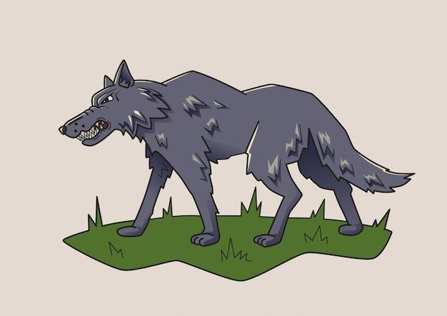 Lobo, animal perigoso.