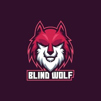 Lobo cego para jogos de esporte eletrônico zoológico animal lúpus safári lobo