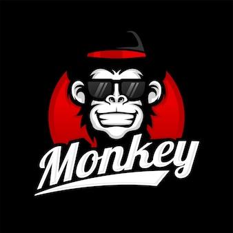 Lobo cinzento clássico modelo de logotipo vintage