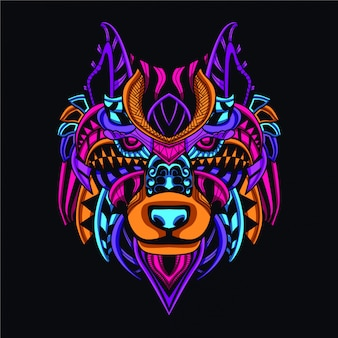 Lobo decorativo