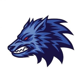 Lobo furioso logo vector design concept