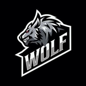 Lobo mascote esport logotipo