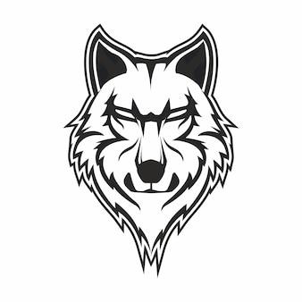 Lobos desenhados à mão gravuras