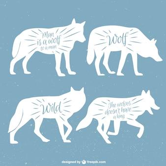 Lobos silhuetas definir