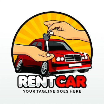 Locação de carro de aluguel logo template design vector