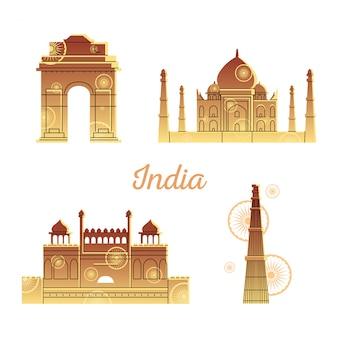 Locais de monumentos da índia