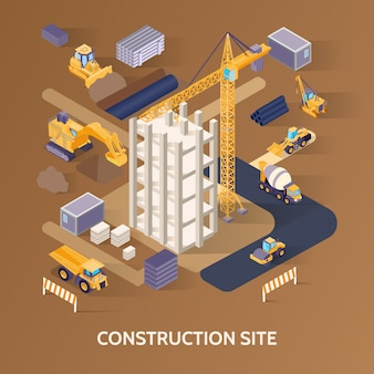 Local de construção isométrico