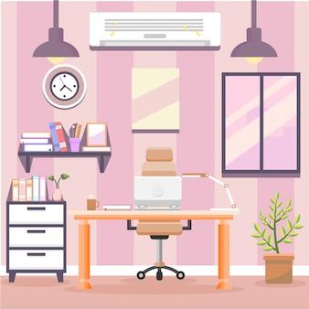 Local de trabalho criativo moderno espaço aberto vazio ninguém escritório interior contemporâneo contemporâneo co-working flat horizontal
