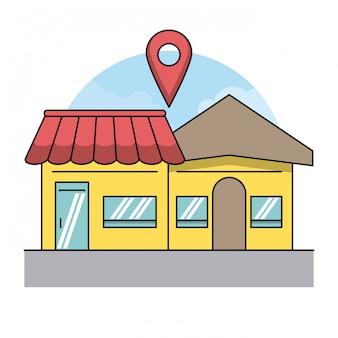 Localização da casa e restaurante