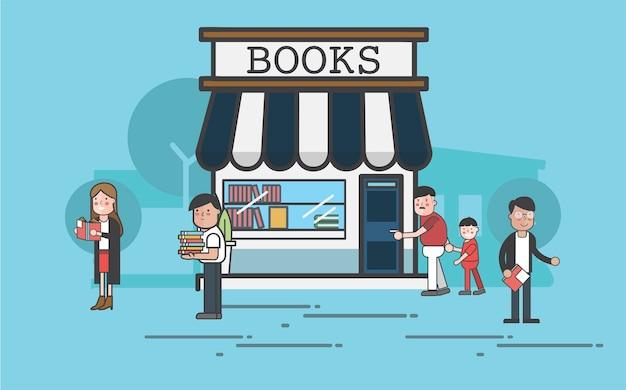 Localização da loja de livros