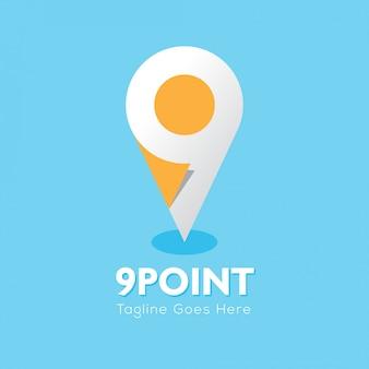 Localização do logotipo de 9 pontos