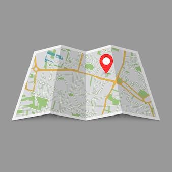 Localização mapa da cidade