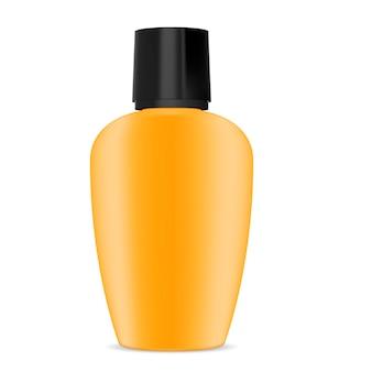 Loção de creme protetor solar garrafa de plástico