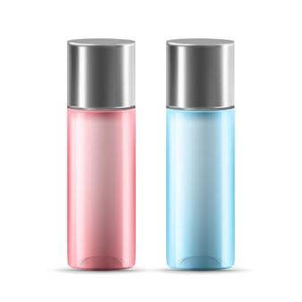 Loção ou recipiente de vidro de gel com tampa