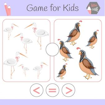 Lógica de jogo educativo para crianças pré-escolares. robôs engraçados de desenhos animados.