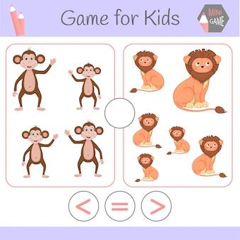 Lógica de jogo educativo para crianças pré-escolares.