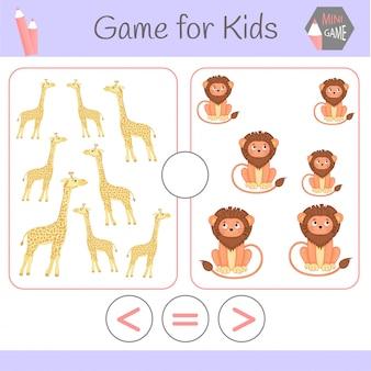 Lógica de jogo educativo para crianças pré-escolares
