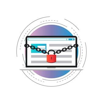 Login da interface do usuário, registro da conta, autorização de acesso ao site, proteção on-line,