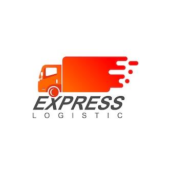 Logistic truck logo design vector