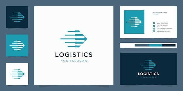 Logística de design de logotipo de direção