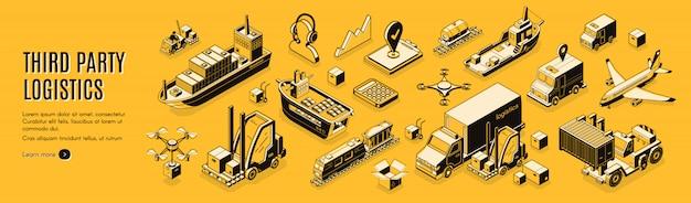 Logística de terceiros, 3pl, transporte, exportação de carga, importação.