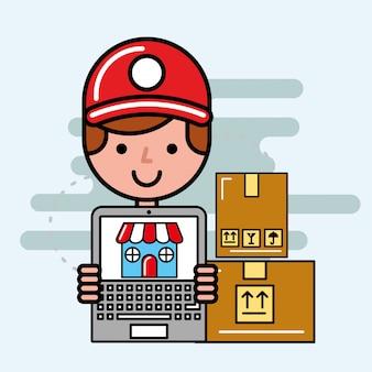 Logística e serviço de entrega