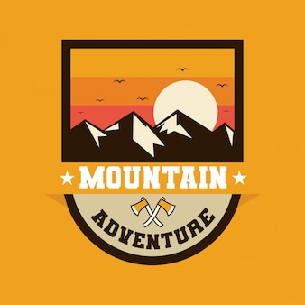 Logo badge outdoor advanture expedition