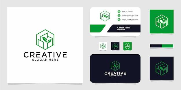 Logo building line nature design gráfico para outros usos é perfeito