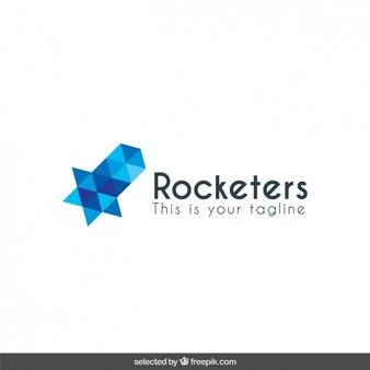 Logo com forma abstrata poligonal