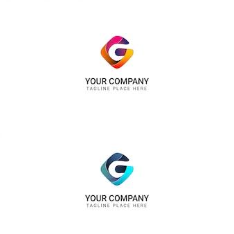 Logo criativo da letra g