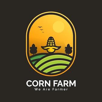 Logo da fazenda de milho