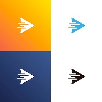 Logo de design rápido de seta
