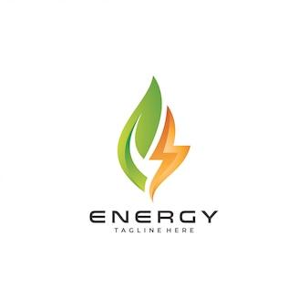 Logo de energia moderna