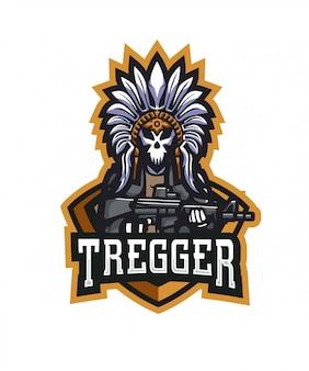 Logo de esportes de tregger