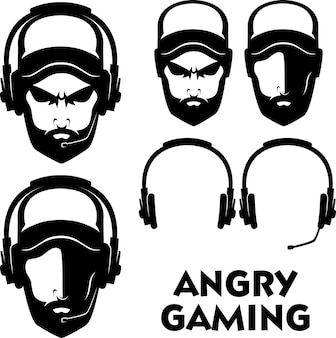 Logo de jogo irritado
